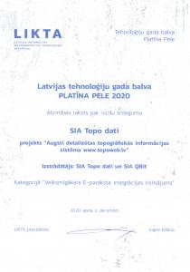 Platīna pele – atzinības raksts