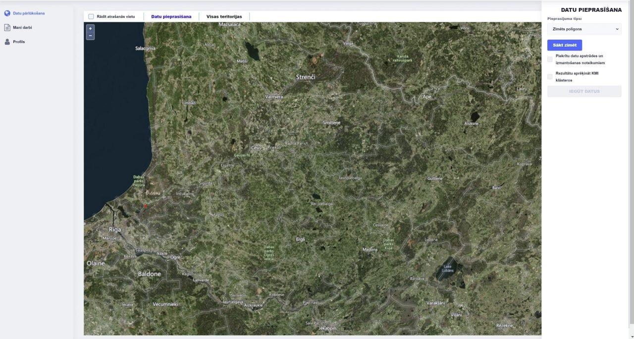 Kombinēta mežu inventarizācijas datu platforma