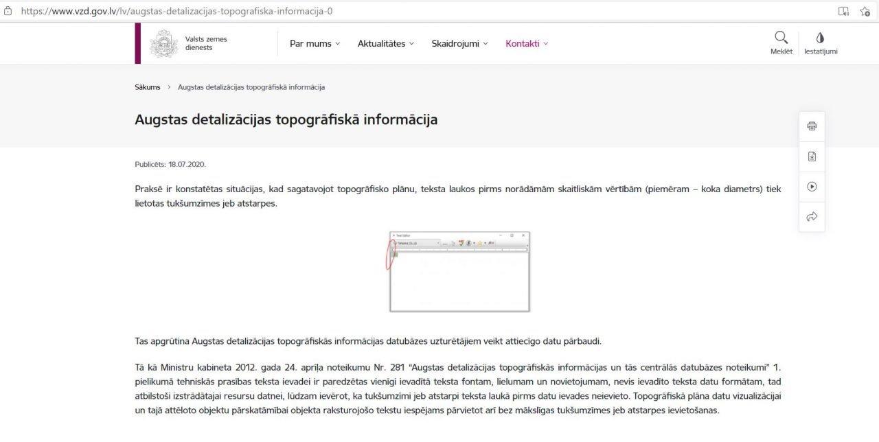 Read more about the article Augstas detalizācijas topogrāfiskā informācijas pārbaude
